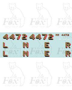 LNER Flying Scotsman Numbering and Tender Lettering. No White highlights on 2mm version