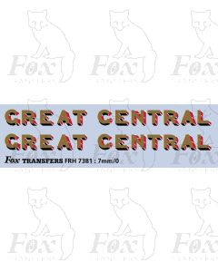 Great Central Loco Lettering