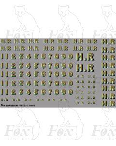 Highland Railway Big HR & Numeral Sheet