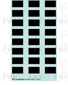 Freight Vehicle Number Patches, black