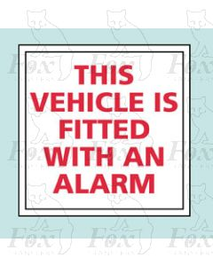 FITTED WITH AN ALARM - STICKER