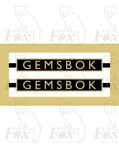 1020  GEMSBOK