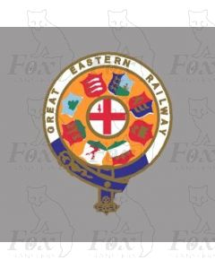 GER GREAT EASTERN RAILWAY CRESTS - 2 pairs 7 inch