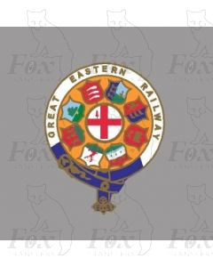 GER GREAT EASTERN RAILWAY CRESTS - 2 pairs 10.5 inch
