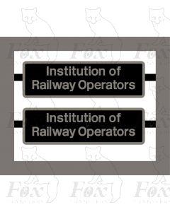 66728 Institution of Railway Operators