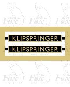 1007  KLIPSPRINGER