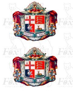 1 pair METROPOLITAN Crests (DIGITAL CREST)