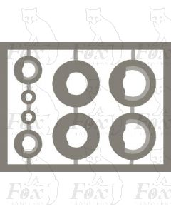 Euro Tunnel rings, 8 pieces