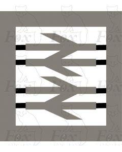 British Railways double arrow corporate motif for TPOs, Mainline etc