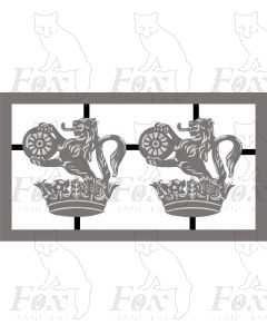 AC Electric Loco Lion and Wheel cast crest (Pair)