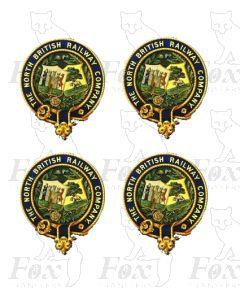 2 pairs North British Railway Crests (DIGITAL CREST)