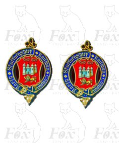 1 pair NORTH STAFFORDSHIRE Crests (DIGITAL CREST)