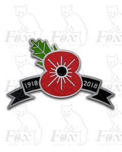 Headboard - POPPY - 1918-2018 ribbon