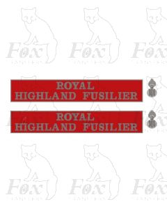 55019 ROYAL HIGHLAND FUSILIER (with crests)
