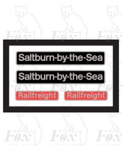 20118 Saltburn by the Sea (with Railfreight plates in RED)