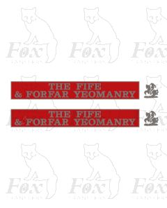 55006 THE FIFE & FORFAR YEOMANRY  (with crests)