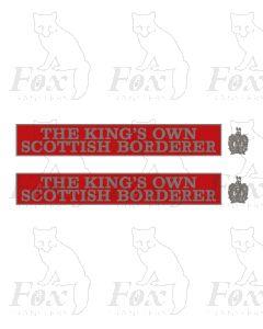 D9010 THE KINGS OWN SCOTTISH BORDERER