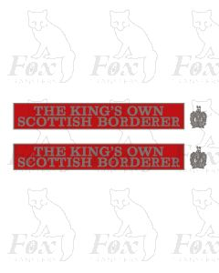 55010 THE KINGS OWN SCOTTISH BORDERER  (with crests)