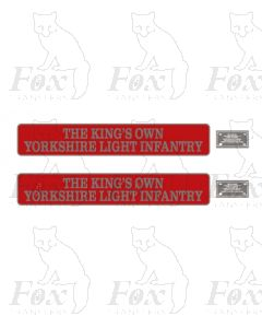55002 THE KINGS OWN YORKSHIRE LIGHT INFANTRY (with crests)