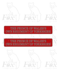 55005 THE PRINCE OF WALESS OWN REGIMENT OF YORKSHIRE  (with crests)