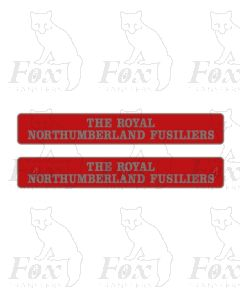 55011 THE ROYAL NORTHUMBERLAND FUSILIERS  (with crests)