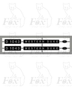 D1043 WESTERN DUKE