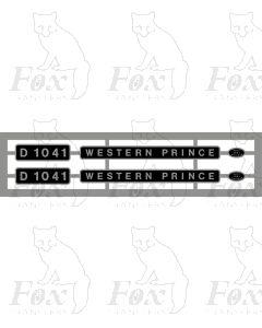 D1041 WESTERN PRINCE