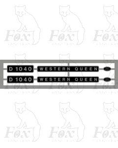D1040 WESTERN QUEEN