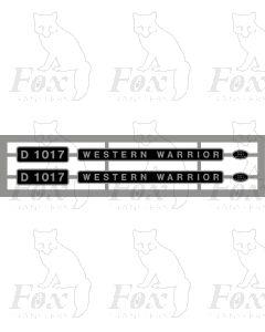 D1017 WESTERN WARRIOR