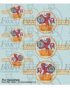 BR Later Lion & Wheel (Ferret & Dartboard) crest