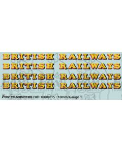 Original GW style British Railways Lettering