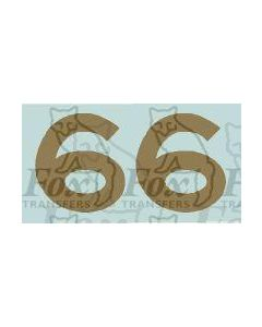 LMS numerals for Coronation Scot red locos and tenders. Late 1930s