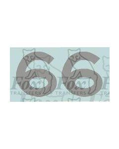 LMS numerals for Original 5 Blue Streamlined Princess Coronation Engines