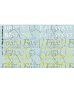 Original LNER style British Railways Lettering (8 inch)