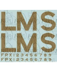 LMS lettering for Coronation Scot, crimson locos and tenders. Late 1930s.