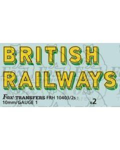 SR - BRITISH RAILWAYS Bulleid Sunshine Lettering