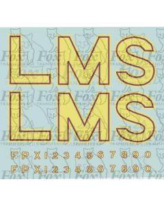 LMS Post-War Locomotive Livery Lettering