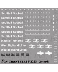 ScotRail Blue/Grey Livery Lettering/Numbering