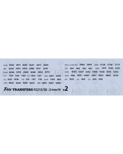 SOUTHERN ELECTRIC UNIT Numbersets for Blue stock with yellow ends 2 sheets)