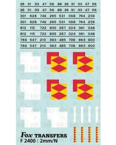 Rf Speedlink Distribution (smaller size) Symbols/TOPS numbering  (Classes 26/31/33/47/56/86)