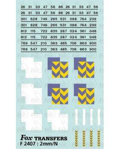 Rf Metals/Trainload Metals (smaller size faded) Symbols/TOPS numbering  (Classes 26/31/33/47/56/86)
