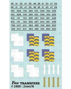 Rf Petroleum/Trainload Petroleum (smaller size faded) Symbols/TOPS numbering  (Classes 26/31/33/47/56/86)