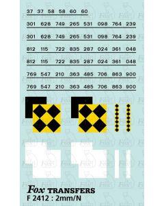 Rf Coal/Trainload Coal  (larger size) Symbols/TOPS numbering  (Classes 37/58/60)