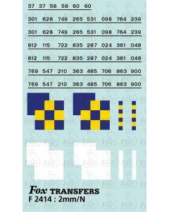 Rf Construction/Trainload Construction (larger size) Symbols/TOPS numbering  (Classes 37/58/60)