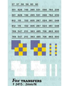 Rf Construction/Trainload Construction (larger size faded) Symbols/TOPS numbering  (Classes 37/58/60)
