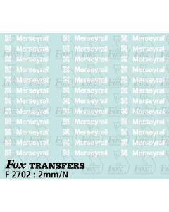 MerseyRail PTE Motif/Logos in white