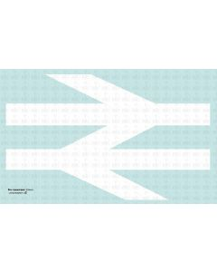 BR Double Arrows  - self adhesive vinyl