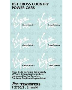 Virgin Cross Country Logos for HST Power Cars