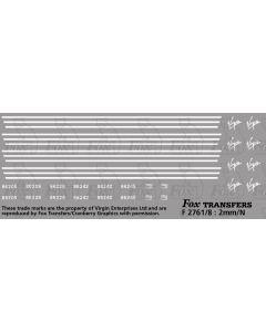 Virgin Class 86 Locomotive Logos, Lining/TOPS Numbersets