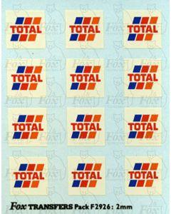 Total Tanker Logos, large, white